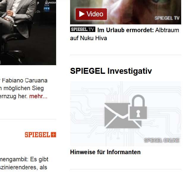 SPIEGEL - Investigativ Postfach für Whistleblower